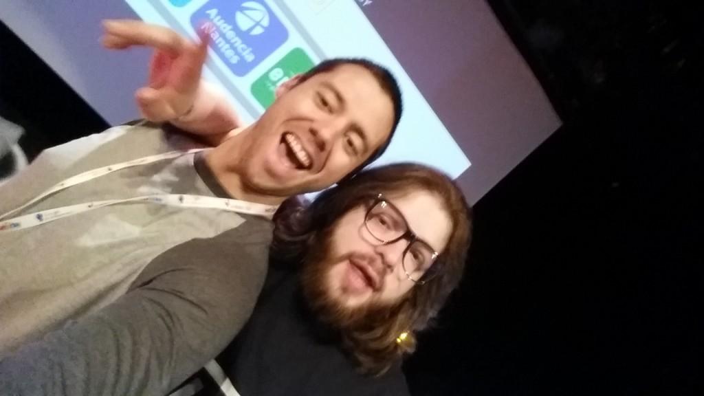 Avec Quentin Adams de Clever-clouds avant sa présentation de feu!!!
