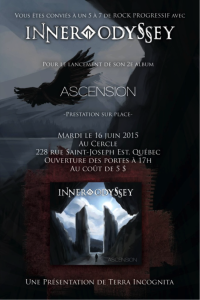 Affiche du lancement de l'album Ascension illustrée par Kevin Stapleton