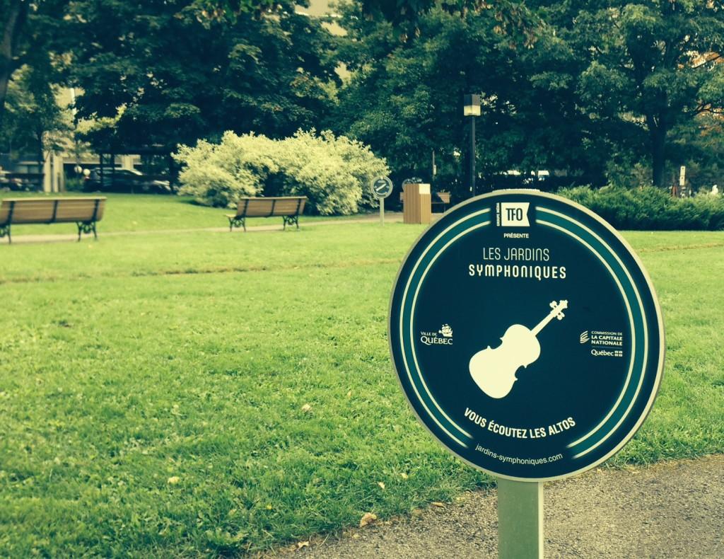 Aperçu des jardins symphoniques parc Amérique-Française