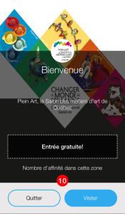 Capture écran de l'application Affinity