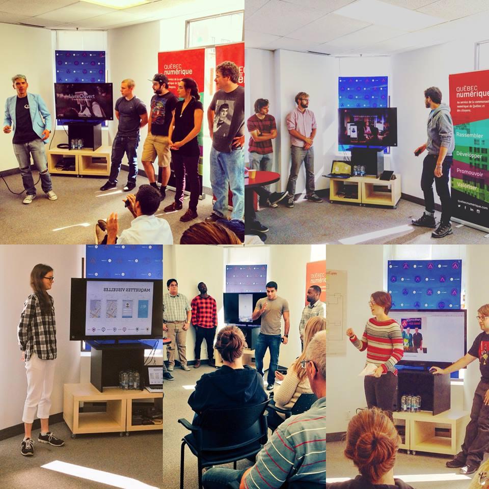 Photo de tous les participants au Hackathon culture édition Québec septembre 2015