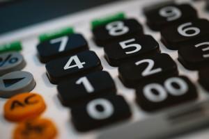calculatrice en gros plan
