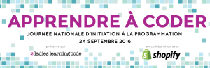 Journée nationale d'initiation à la programmation - Ladies learning code