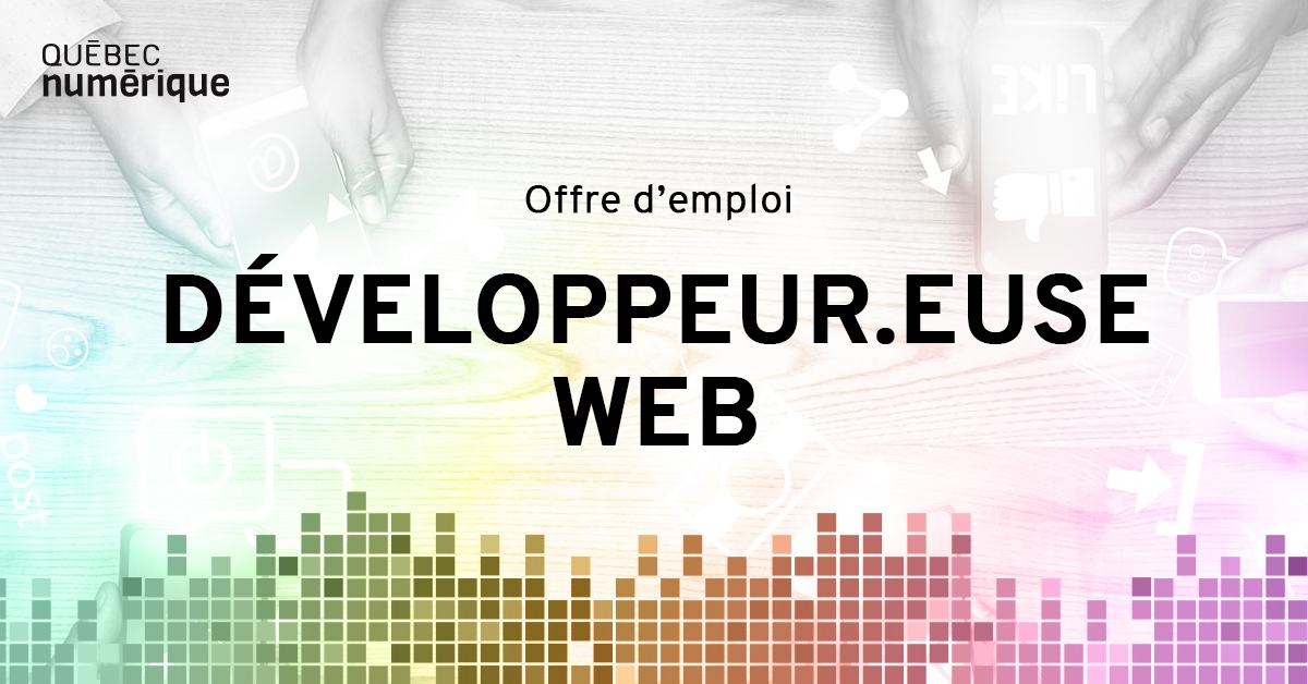 Développeur.euse web - Québec numérique